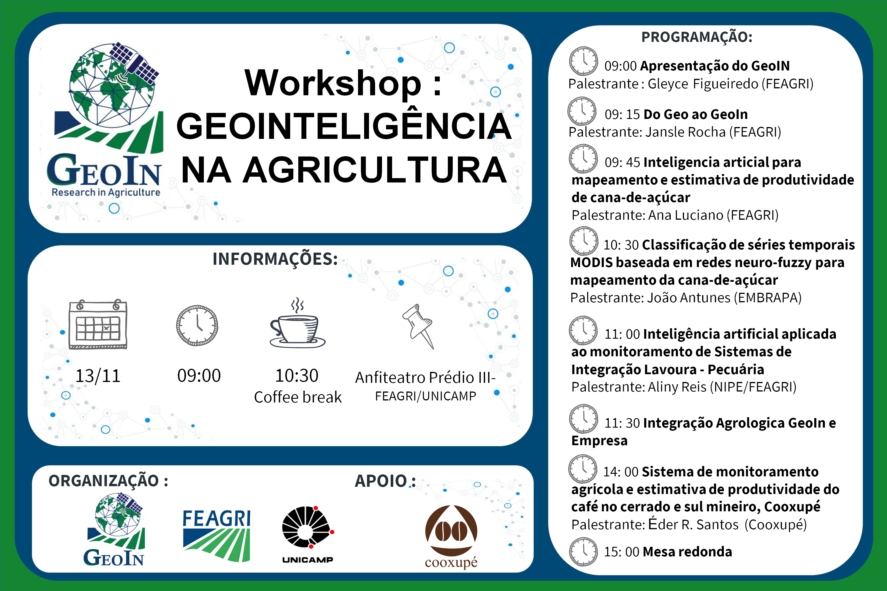 workshop geointeligencia na agricultura